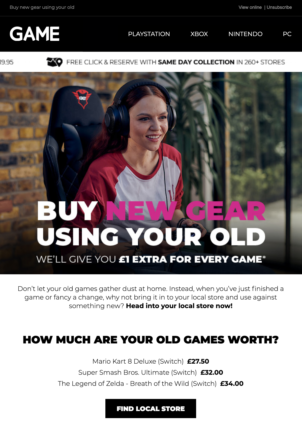 Image of GAME email
